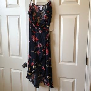 Leith floral wrap dress- NWT